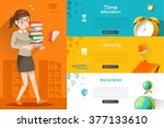 students are preparing for the... | Shutterstock .eps vector #377133610