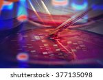 petri dishes and liquid... | Shutterstock . vector #377135098