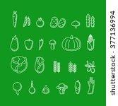vegetables icons | Shutterstock .eps vector #377136994