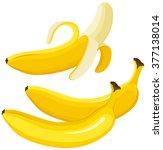 banana   Shutterstock .eps vector #377138014