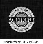 accident chalk emblem written... | Shutterstock .eps vector #377143084