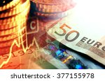 euro coins and us dollar... | Shutterstock . vector #377155978