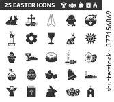 easter icons set. | Shutterstock .eps vector #377156869