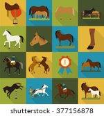 Horse Icons Set. Horse Icons...