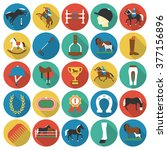 Stock vector horse icons set 377156896