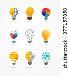 light bulb   idea  creative ... | Shutterstock .eps vector #377157850
