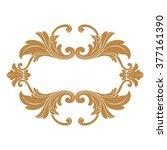 premium gold vintage baroque... | Shutterstock .eps vector #377161390