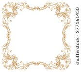 premium gold vintage baroque... | Shutterstock .eps vector #377161450