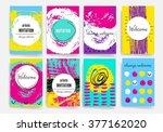 template. set of trendy posters ... | Shutterstock .eps vector #377162020