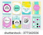 template. set of trendy posters ... | Shutterstock .eps vector #377162026