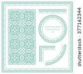 vintage frame pattern set 237... | Shutterstock .eps vector #377162344