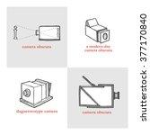 camera obscura. vector... | Shutterstock .eps vector #377170840