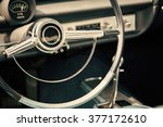 classic car with close up on... | Shutterstock . vector #377172610