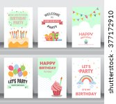 birthday  holiday  christmas... | Shutterstock .eps vector #377172910