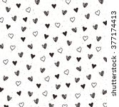pattern with hand drawn hearts | Shutterstock .eps vector #377174413