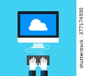 cloud computing  network cloud... | Shutterstock .eps vector #377174500