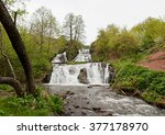 beautiful waterfall  ... | Shutterstock . vector #377178970
