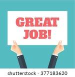great job. vector flat... | Shutterstock .eps vector #377183620