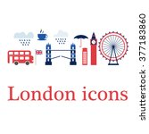 Set Of London Icons.  Perfect...