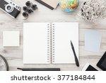 traveler's desk. globe  vintage ... | Shutterstock . vector #377184844
