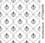 damask seamless vector pattern. ... | Shutterstock .eps vector #377186098