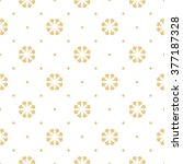 seamless floral pattern  gold... | Shutterstock .eps vector #377187328