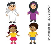 set of isolated children of... | Shutterstock .eps vector #377190934