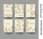 floral abstract vector brochure ... | Shutterstock .eps vector #377192770