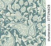 seamless vector floral... | Shutterstock .eps vector #377196628