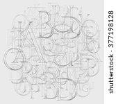 modern roman classic alphabet...