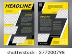 brochure design a4 template.... | Shutterstock .eps vector #377200798