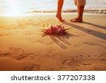 Wedding On The Beach  Feet Of...