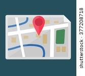 map in flat design | Shutterstock .eps vector #377208718