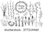 hand drawn easter design... | Shutterstock .eps vector #377214460