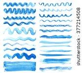 watercolor hand painting... | Shutterstock .eps vector #377214508