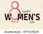 happy women's day greeting card ... | Shutterstock .eps vector #377215024