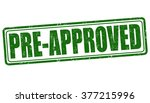 pre approved grunge rubber...   Shutterstock .eps vector #377215996