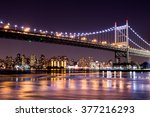 beautiful night view of new... | Shutterstock . vector #377216293