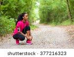 african american woman runner... | Shutterstock . vector #377216323
