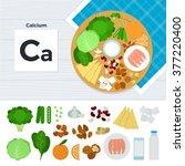 calcium vector flat... | Shutterstock .eps vector #377220400