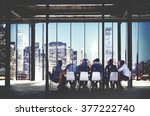 business team meeting... | Shutterstock . vector #377222740