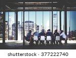 business team meeting... | Shutterstock . vector #377222740