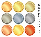 vector set of medals from... | Shutterstock .eps vector #377225158