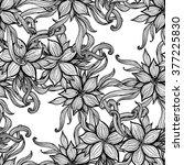 coloring book template. vector... | Shutterstock .eps vector #377225830
