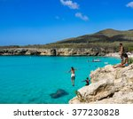knip beach   on the caribbean... | Shutterstock . vector #377230828