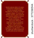 border frame deco plaque.... | Shutterstock .eps vector #377238544