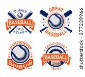 set of old style baseball... | Shutterstock .eps vector #377239966