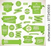 vintage labels set   origami... | Shutterstock .eps vector #377245303