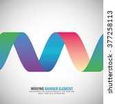 waving banner   ribbon   vector ... | Shutterstock .eps vector #377258113