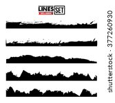 grunge edges vector set. grunge ... | Shutterstock .eps vector #377260930